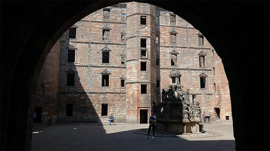 La cour intérieure du Linlithgow Palace
