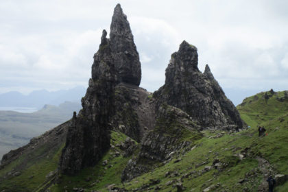 AU sommet de The Old Man of Storr