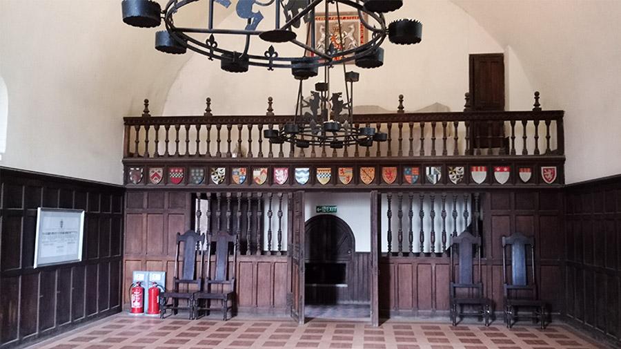 Une des pièces à l'intérieur du Doune Castle